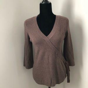 NWT Apt. 9 Faux-Wrap V-Neck Sweater